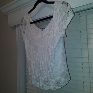Charlotte Russe white floral blouse